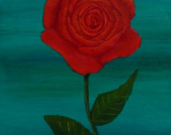 Rose Painting Red Rose Painting Flower Painting Acrylic Painting Floral Painting Acrylics Rose Art