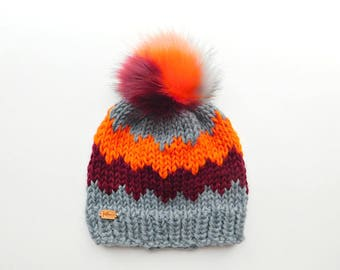 The Westney Hat in Bombshell / Ready to Ship / Woman's Knit Hat