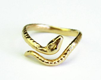Serpentine Ring / Snake Ring / Serpent Ring / Thin Snake Ring / Gold Snake Ring / Midi Snake Ring / HANDMADE IN NYC