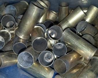 65 rounds of once fired, uncleaned 44 Special brass shell casings