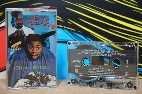 I Need A Haircut by Biz Markie Vintage Cassette Tape