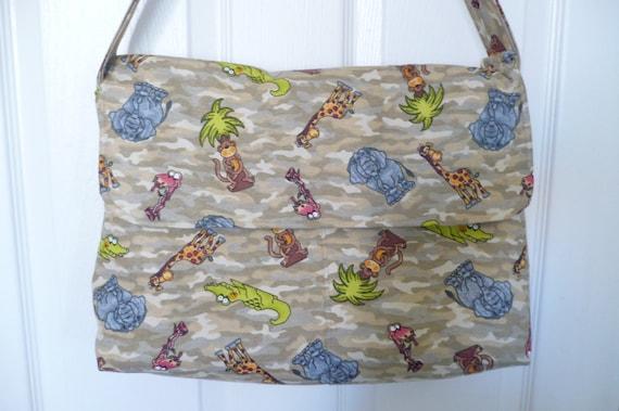 Camo Animal Flappy Diaper Bag
