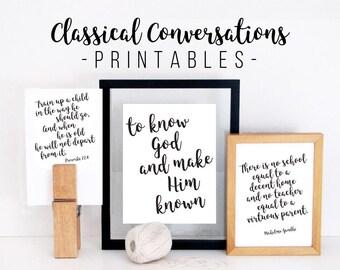Inspirational homeschool printables