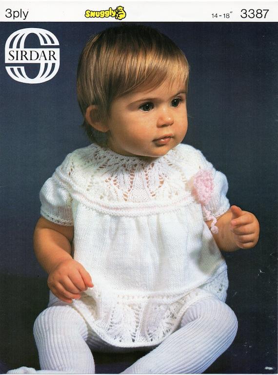 Baby Knitting Pattern Baby Girls Dress Pattern Leaf Pattern