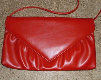 Vintage Bright Red Clutch Purse Handbag