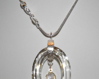 Elegant Sterling Silver Swarovski Necklace