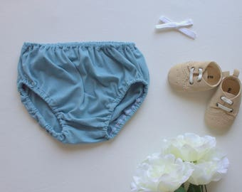Infant Bloomers - Blue Bloomers - Diaper Cover - Nappy Cover - Baby Shower - Buna Blue Art Gallery Fabric - Made 4U Handmade Designs
