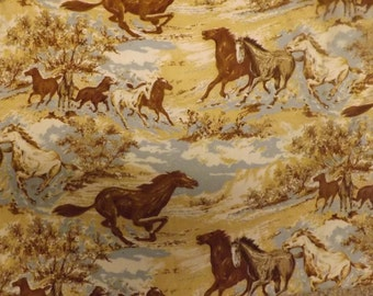 Vintage Horse Print Fabric