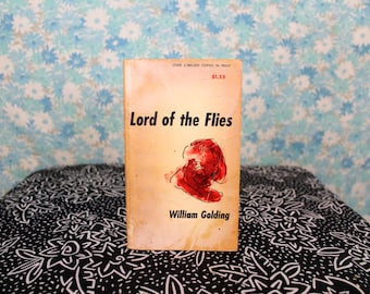 Lord Of The Flies by William Golding 1950s Vintage Collectible Paperback. Vintage Collectible Classic Literature Lord Of The Flies