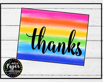 Thank You's (Paint and Confetti): Notecards and Envelopes (20 Pack)