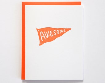 Awesome Letterpress Card