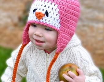 Crochet Pattern for Resale - Penguin Hat