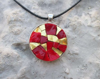Red and gold Pendant