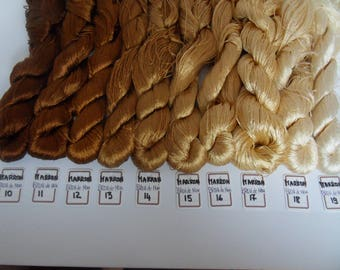 Silk Brown husk of coconuts for embroidery