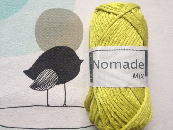 WOOL MIX lime - white horse Nomad