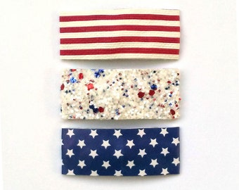 4th of July Snap Clips | Stars and Strips