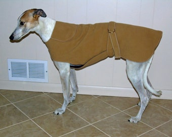 W8 Champagne Greyhound Winter Coat.  Free Shipping!