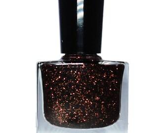 REVELATION Bronze Brown Glitter Nail Polish