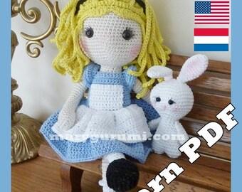Crochet Pattern, pattern, tutorial, Amigurumi doll, Alice