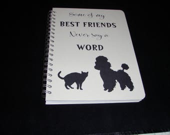 Dog Notebook, Cat Notebook, Journal, Diary, Large Notebook, Sketchbook, Personalisation Possible