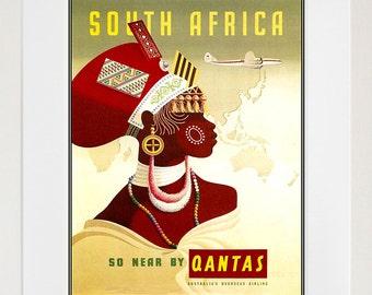 South Africa Travel Poster African Wall Art Print Home Decor (ZT600)