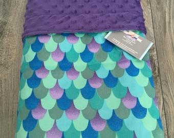 Minky Blanket~ Girl Minky Blanket~ Mermaid Minky Blanket ~ Toddler Blanket~ Double Minky Blanket