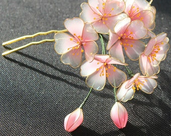 Chinese style Hair stick,wood hair stick,flower hair stick,plum blossom,gift for her,gift for women