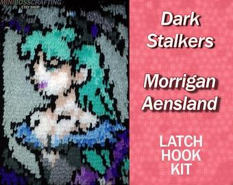 Morrigan Aensland - Darkstalkers - Latch Hook Kit - DIY Latch Hook Rug 9 * 12.5 Inches