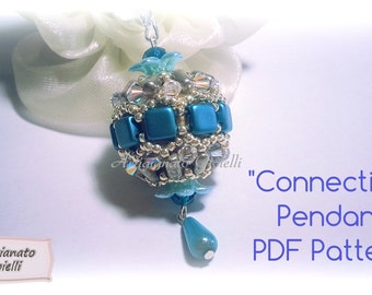 "Bead Pattern tutorial - How to make beaded bead - ""Connection"" sfera con perline - (English or Italian available)"