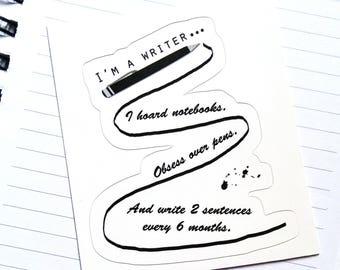 Gift for Writers, Gift for Writers Sticker, Writer Sticker, I'm A Writer Sticker, Writing Sticker