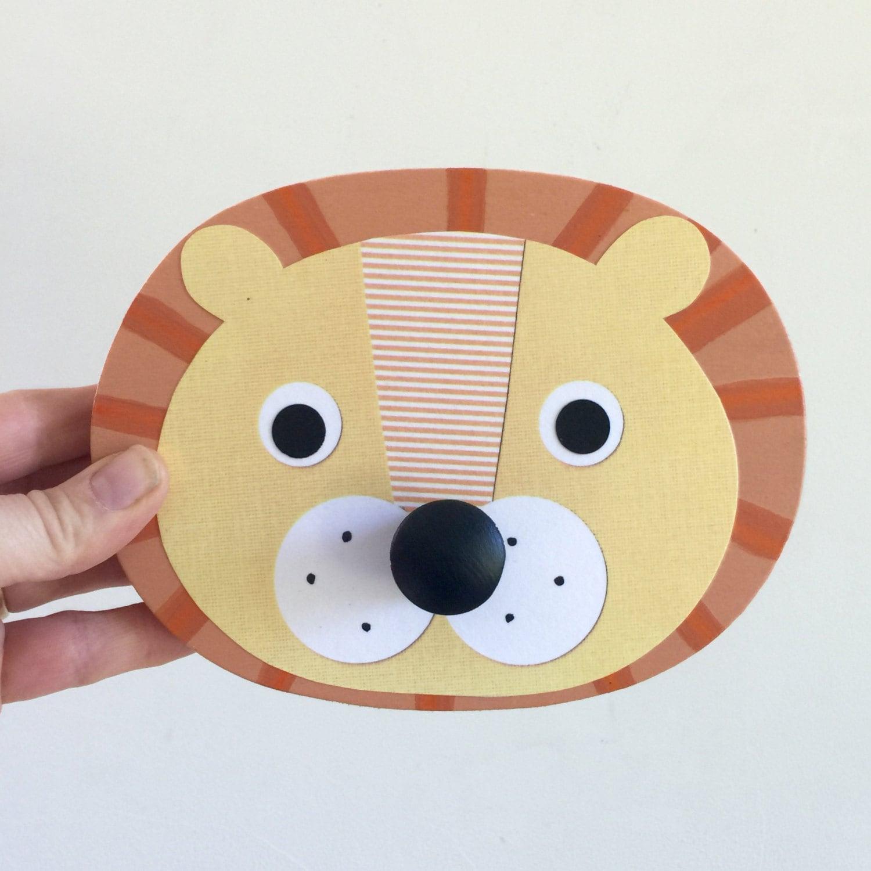 Lion, Tiger, Bear Wall Hook, Animal Wall Hanger, Children\'s Wall Art ...