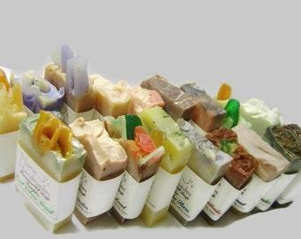 Handmade Cold Process Soap Sampler. U choose 12 guest soap samples. Ea. 2.1-2.5 oz. party favors, shower,wedding favors.Free Shipping