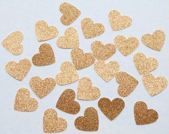 DOUBLE SIDED Rose Gold Confetti, rose gold confetti, double sided confetti, heart confetti, rose gold heart confetti, rose gold table hearts