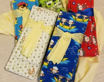 Infant Receiving Blanket Set - Monkeys