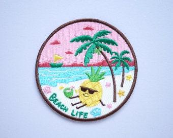 Beach Life Pineapple Iron On Patch