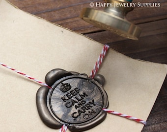 Buy 1 Get 1 Free - Wax Seal Stamp - 1pcs Keep Calm and Carry On Metal Stamp / Wedding Wax Seal Stamp / Sealing Wax Stamp (WS013)
