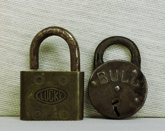 Antique Padlocks for reuse, repurpose, crafts, altered art, display