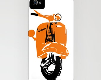 Vespa Scooter on Phone Case -  Samsung Galaxy S7, iPhone 6S, iPhone 6 Plus, Gifts for her, Vespa Gifts, Scooter Gift Ideas, iPhone 8