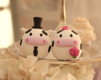 Cow  wedding cake topper