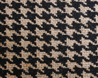 "Burlap Print Houndstooth Grey - 60"" x 20 Yards"