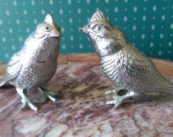 Silver Bird Salt and Pepper Shakers