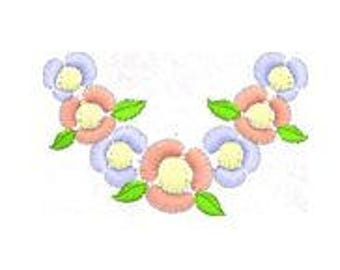 Flower Embroidery Design Pattern File, Machine Embroidery Design Pattern File, 4x4 Hoop, MULTIPLE FORMATS Download