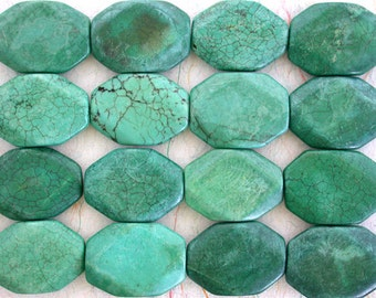 Destash Beads, Turquoise Magnesite Beads, Semi Precious Stone Beads, Blue Turquoise Color Magnesite Beads, Large Turquoise Beads  DS-408