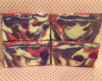 Black Raspberry Vanilla Sea Salt Luxury Salt Bars Salt Soap