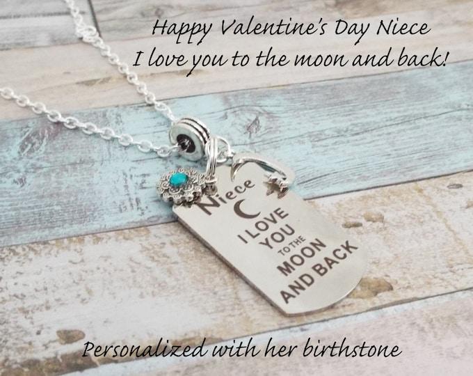 Valentine's Day Gift for Niece, Niece Valentine's Day Gift, Niece Birthday Gift, Birthday for Niece, Personalized Gift, Custom Jewelry