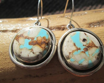 Royston Ribbon Turquoise and Sterling Silver Earrings