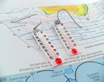 Is it HOT HOT HOT Novelty Thermometer Earrings