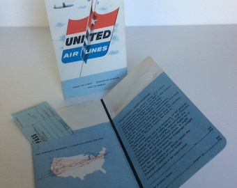 Vintage United Airlines boarding passes collectible ephemera