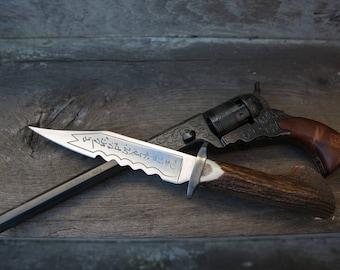 Pre-order Supernatural Demon Killing Dagger Stainless Steel blade, Stag hilt. Prop replica, Cosplay prop