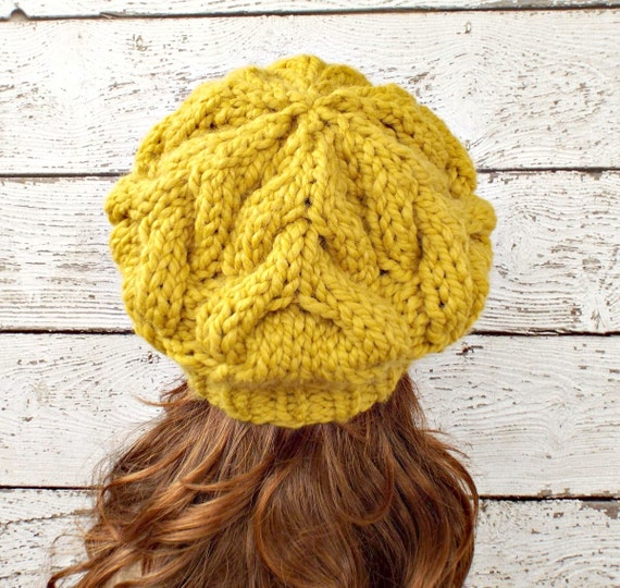 Instant Download Knitting Pattern - Womens Beret Pattern - Knit Hat ...